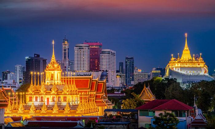 Храм Ратчанадда и Золотая гора в Бангкоке