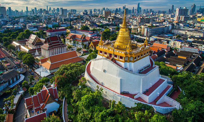 Золотая гора (Ват Сакет) в Бангкоке