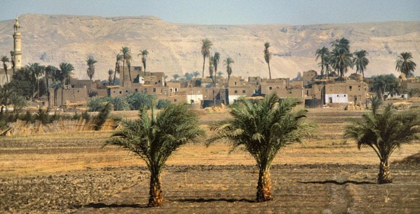 Типичная деревня Долины Нила