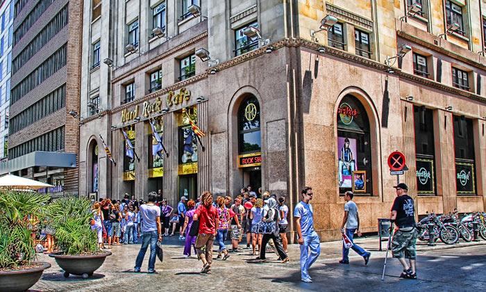 Кафе Hard Rock в Барселоне