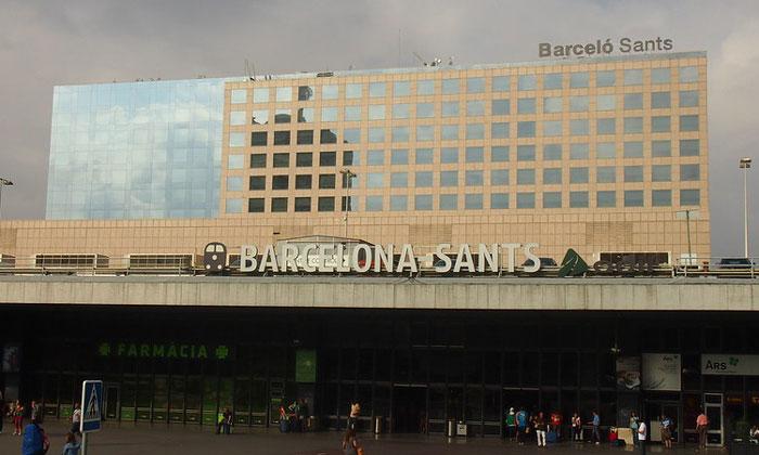 Железнодорожный вокзал Sants в Барселоне
