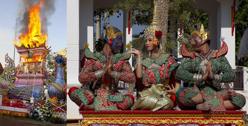 Церемония кремации в Северном Таиланде