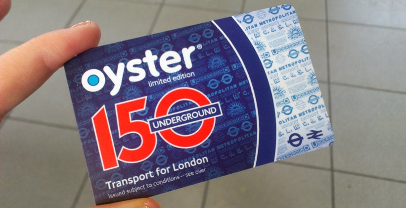 Электронная проездная карточка Ойстер