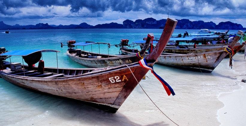 Длиннохвостые лодки Таиланда