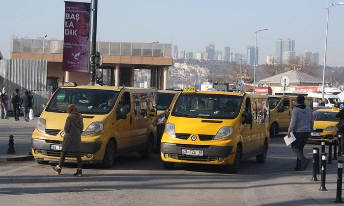 Маршрутные такси в Стамбуле