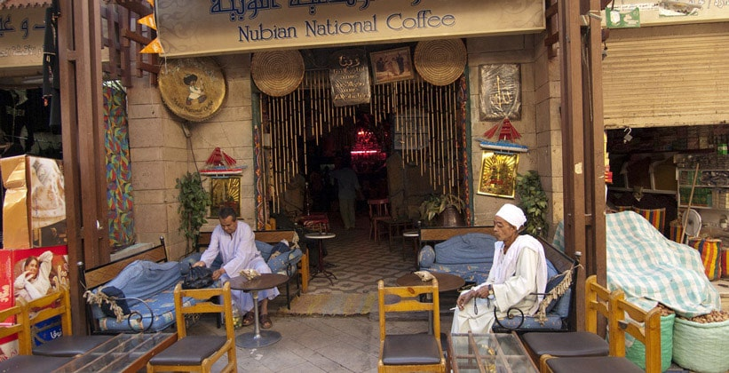 Чайная Nubian National Coffee в Луксоре