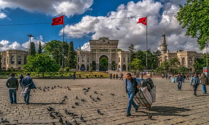 Площадь Беязит в Стамбуле