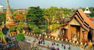 Город Аюттхая в Таиланде