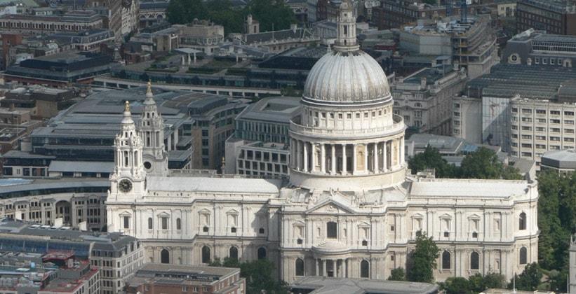 Собор Святого Павла с высоты птичьего полёта