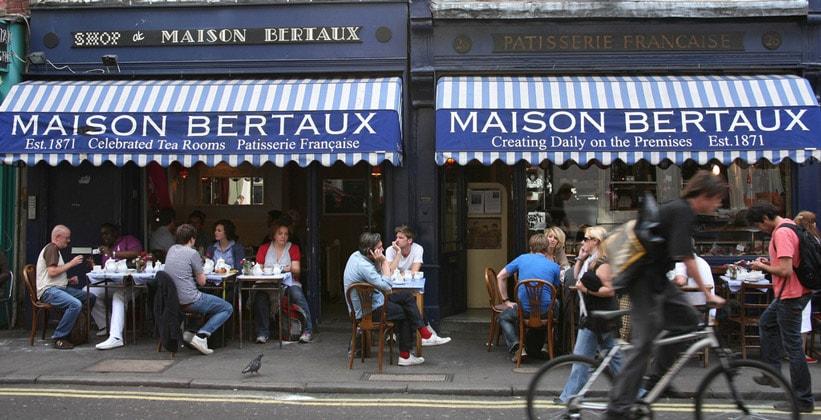 Кафе Maison Bertaux в Лондоне