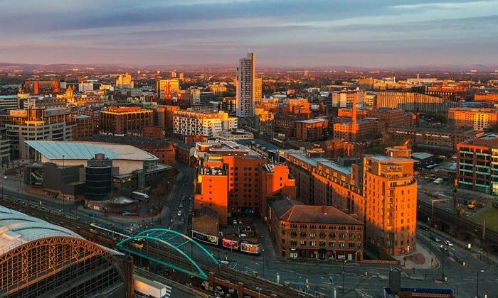 Город Манчестер в Англии