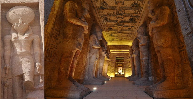 Внутри храма Рамсеса II (Абу-Симбел)