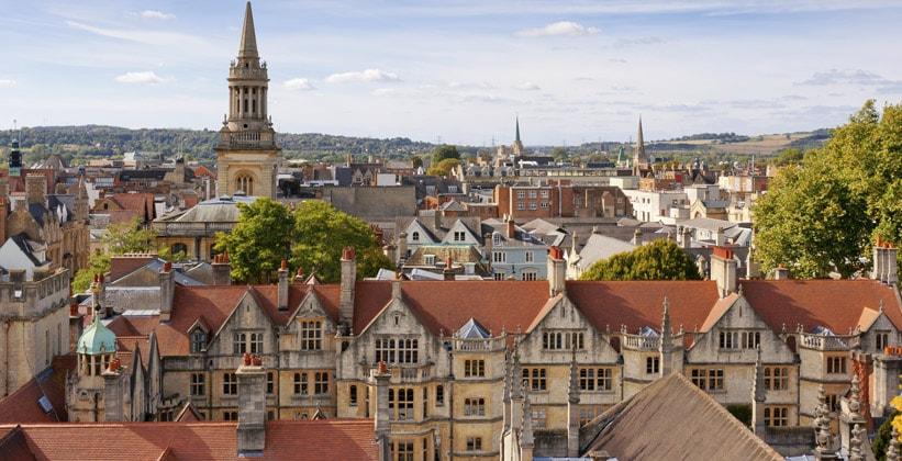 Город Оксфорд в Англии