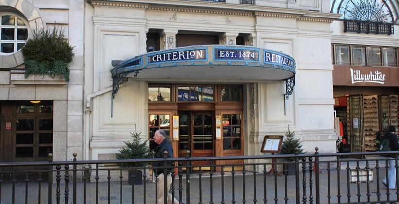 Ресторан Criterion в Лондоне