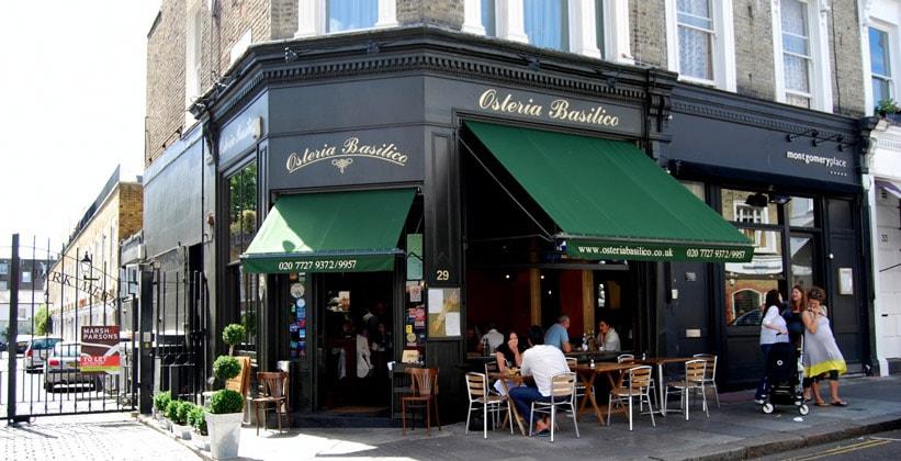 Ресторан Osteria Basilico в Лондоне