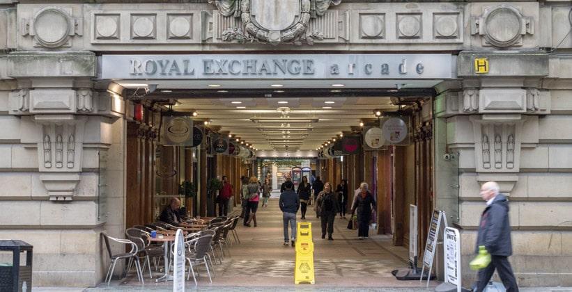 Аркада Королевской биржи Манчестера