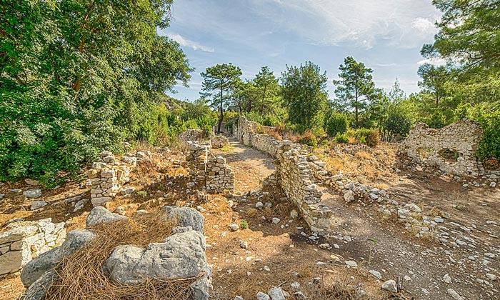 Руины Олимпоса в Турции
