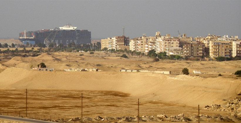 Город Суэц в Египте