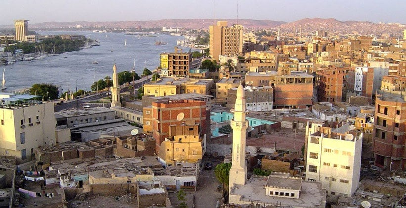 Город Асуан в Египте