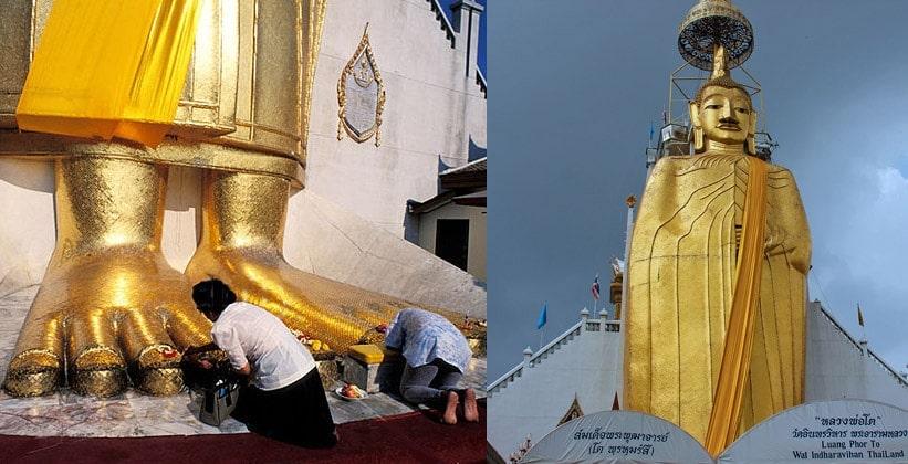 Большой Будда (храм Ват Индра Вихарн)