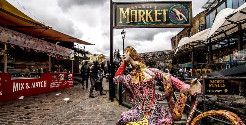 Рынок Camden Stables в Лондоне