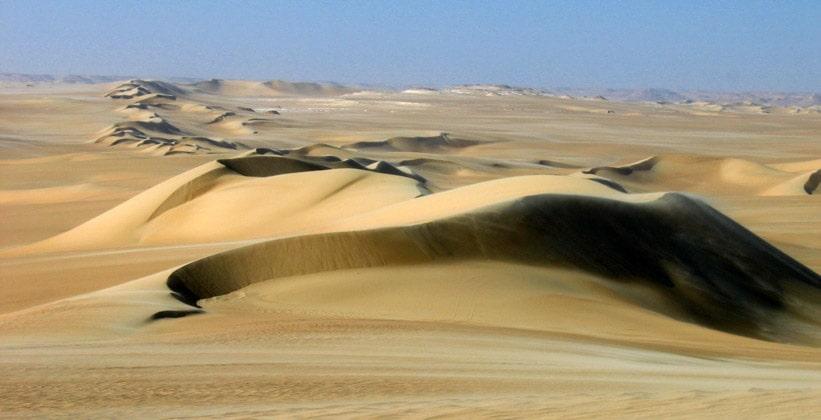 Песчаные дюны на юге оазиса Сива