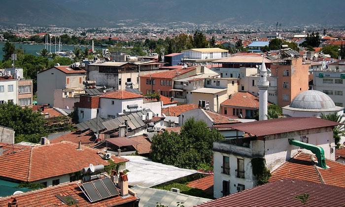 Город Фетхие в Турции