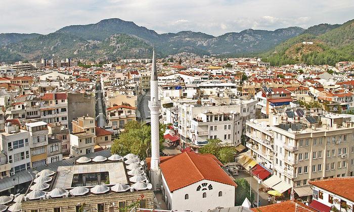 Город Мармарис в Турции