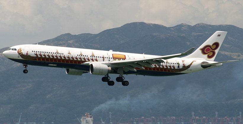 Самолёт авиакомпании Thai Airways