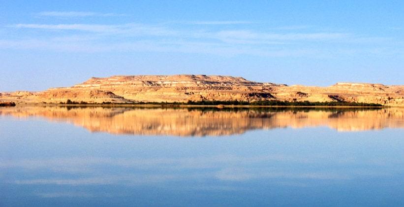 Солёное озеро оазиса Сива