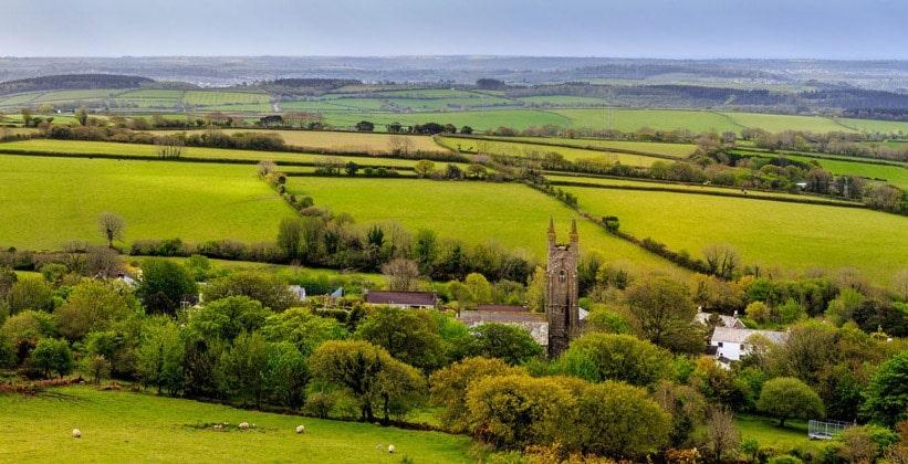 Угодья деревни Shaugh Prior (графство Девон)
