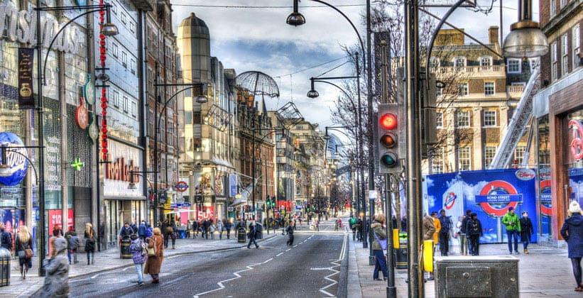 Улица Оксфорд-стрит в Лондоне