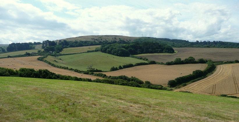 Квантокские холмы в Англии