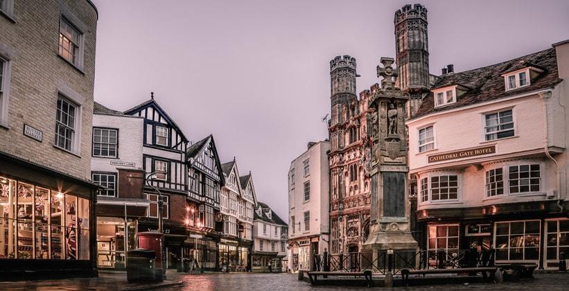Город Кентербери в Англии