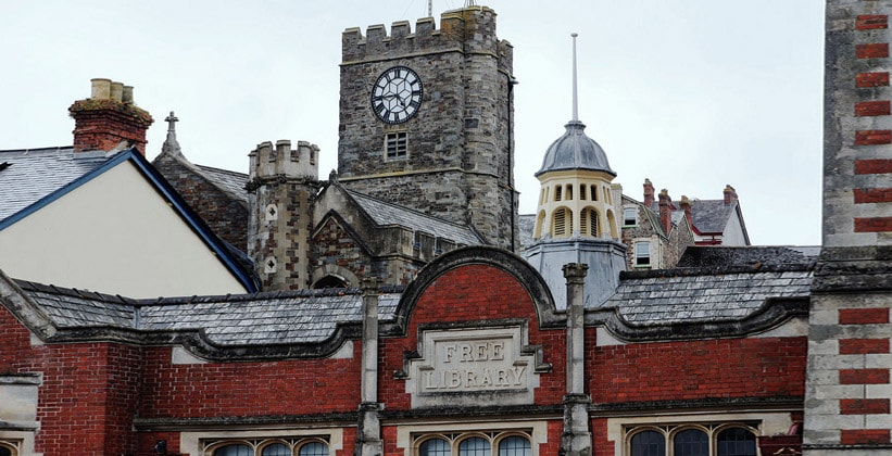 Архитектура городка Бидефорд в Англии