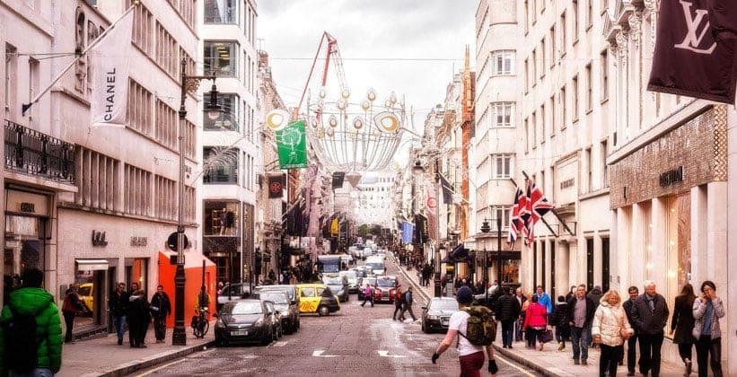 Улица Бонд-стрит в Лондоне