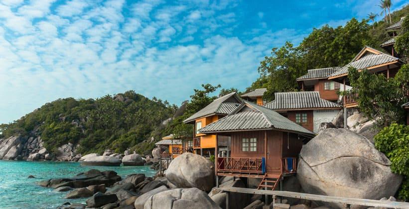 Бунгало на острове Ко Тао в Таиланде