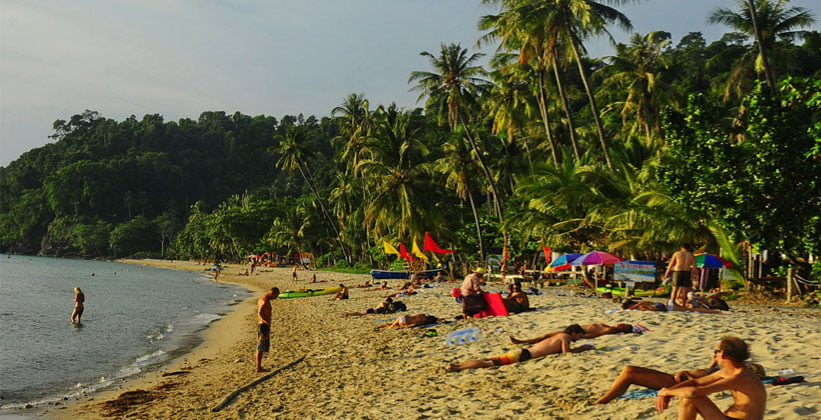 Уединённый пляж на острове Ко Чанг