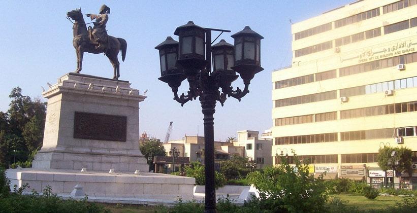 Конная статуя Ибрагима-паши в Каире