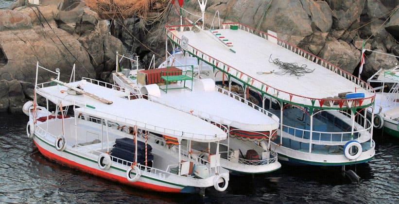 Моторные лодки в Асуане