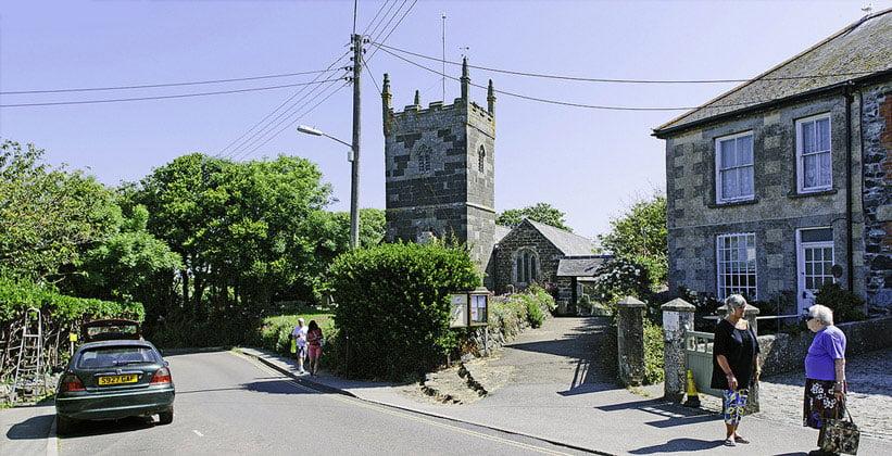Деревня Маллион в Англии