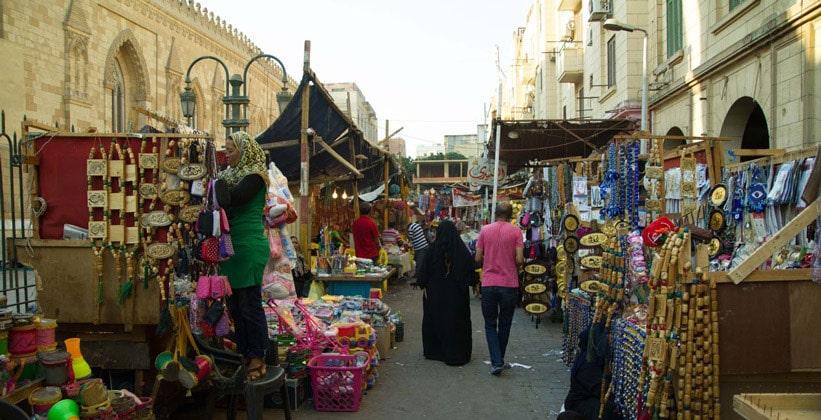 Рынок плетёных изделий в Каире
