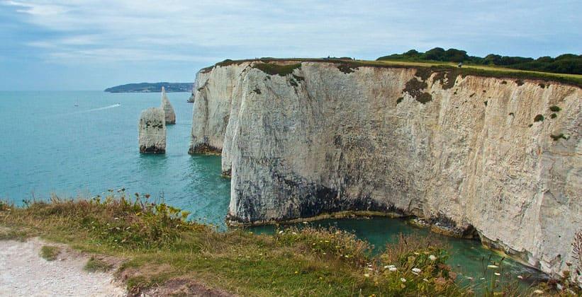 Скалы острова Пурбек в Англии