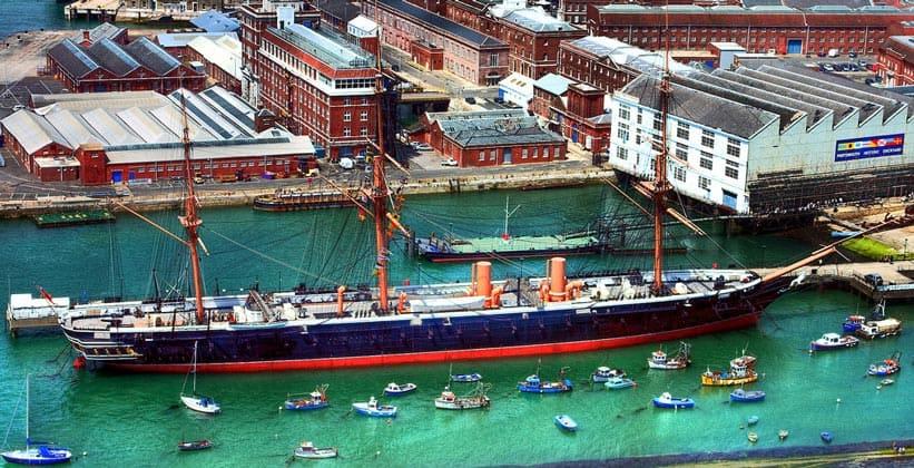 Корабль Воин (HMS Warrior) в Портсмуте