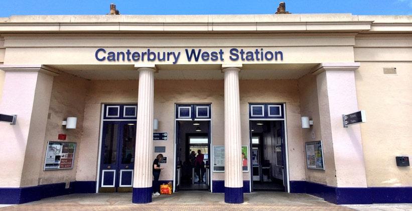 Западная железнодорожная станция города Кентербери