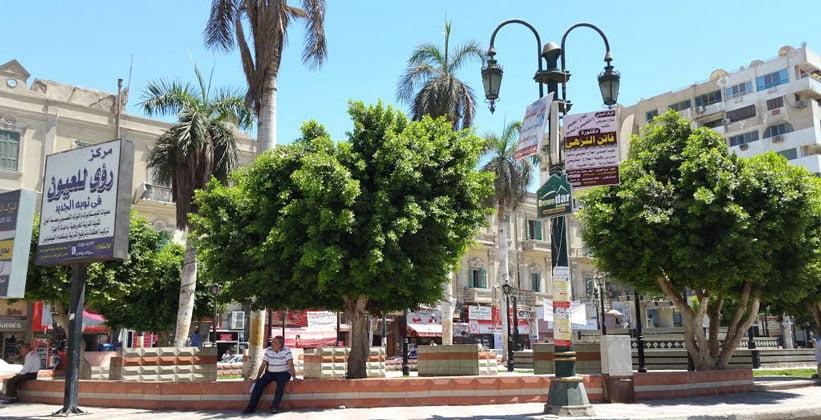 Центральная часть городка Эль-Минья