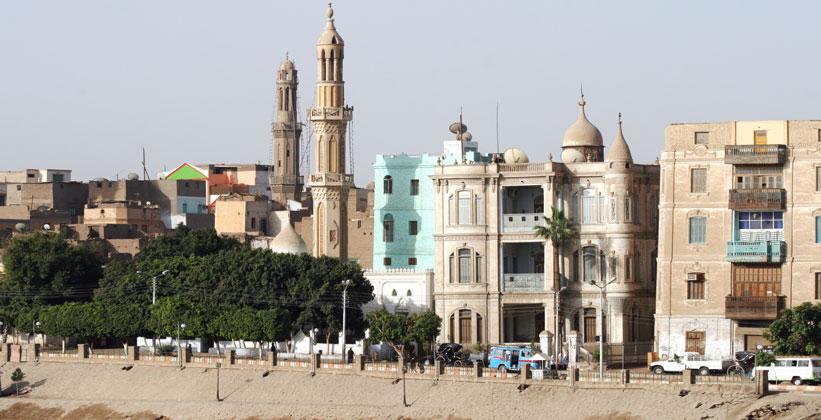 Город Исна в Египте