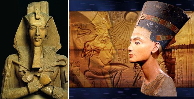 Фараон Эхнатон и Нефертити