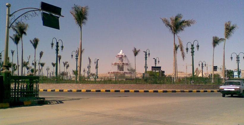 Фонтан в городке Эль-Минья