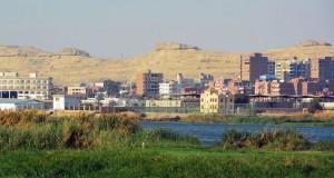 Городок Эль-Минья в Египте